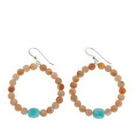 Jay King Sunstone and Amazonite Bead Drop Sterling