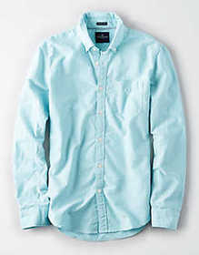 American Eagle AE Classic Oxford Button Up Shirt