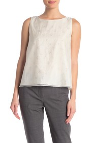 Theory Layered Silk Blend Tank Top