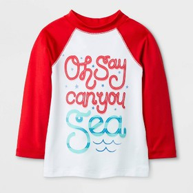Baby Boys' 'Oh say can you sea' Rash Guard - Cat &