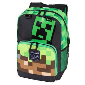 "Minecraft 17"" Creepy Thing Backpack - Black/Gr"