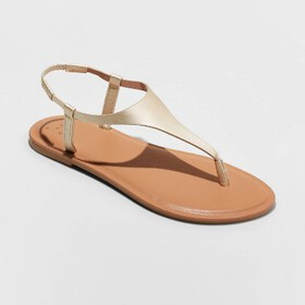 Women's Norah T-Strap Naked Sandals - A New Day