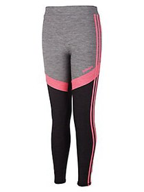 Adidas Little Girl's D2M Melange Tights BLACK PINK