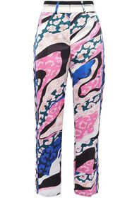EMILIO PUCCI Cropped printed satin straight-leg pa