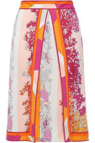 EMILIO PUCCI Layered floral-print jersey skirt