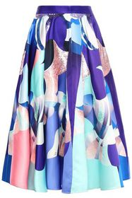 EMILIO PUCCI Flared sequin-embellished printed duc
