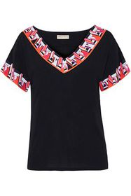 EMILIO PUCCI Printed silk-jersey T-shirt