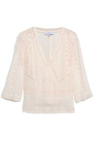 IRO Broderie anglaise crepe blouse