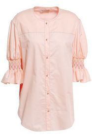 EMILIO PUCCI Floral-print twill-paneled smocked co