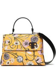 EMILIO PUCCI Floral-print faux textured-leather to