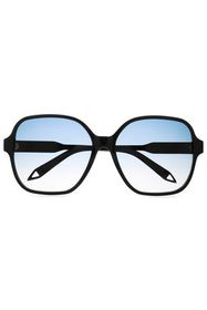 VICTORIA BECKHAM Square-frame acetate and gold-ton
