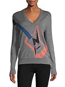 ZADIG & VOLTAIRE Gutair Graphic Wool Pullover GREY