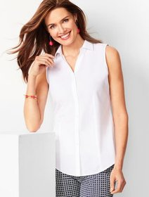 Talbots Sleeveless Perfect Shirt - Solid