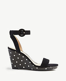 Amma Polka Dot Wedge Sandals