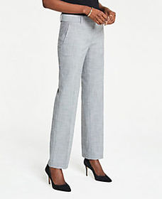 The Petite Straight Leg Pant In Crosshatch - Curvy