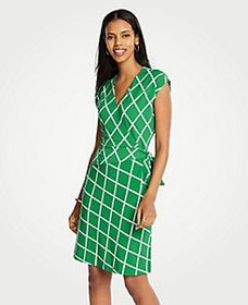Petite Lattice Knit Wrap Dress