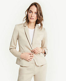 The 1-Button Blazer in Cotton Sateen