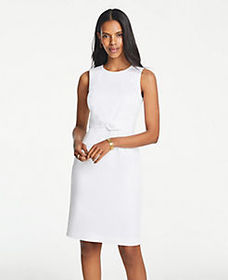 Tie Front Dress in Cotton Sateen