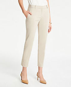 The Ankle Pant in Cotton Sateen