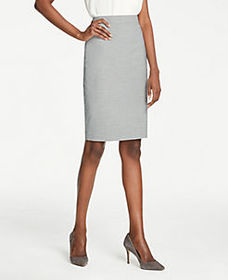 Pencil Skirt in Graph Check