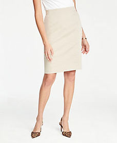 Pencil Skirt in Cotton Sateen