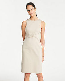 Tall Tie Front Dress in Cotton Sateen