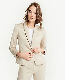 Tall Cotton Sateen One Button Perfect Blazer