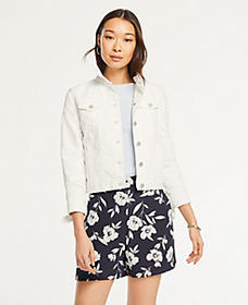 Floral Side Zip Shorts