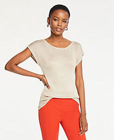 Shimmer Short Sleeve Sweater