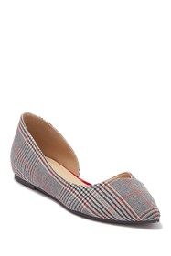 Chinese Laundry Hiromi Half d'Orsay Plaid Flat