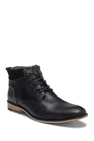 Steve Madden Kontac Leather Cap Toe Boot