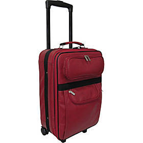 """AmeriLeather Leather 20"""" Expandable Carry On Pullm"""