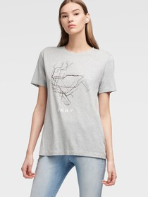 Donna Karan Subway Map Logo Tee