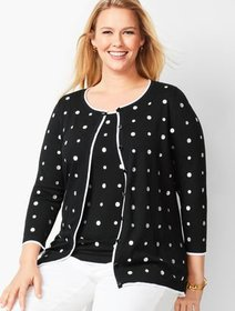 Talbots Charming Cardigan - Embroidered Dot