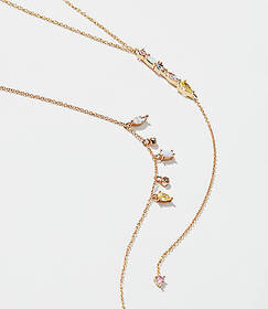 Crystal Double Layer Y Necklace