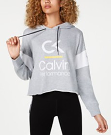 Calvin Klein Performance Colorblocked Cropped Hood