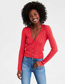 American Eagle AE Bodycon Cable Knit Cardigan