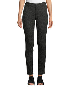 Neiman Marcus Twiggy Mid-Rise Printed Slim Jeans