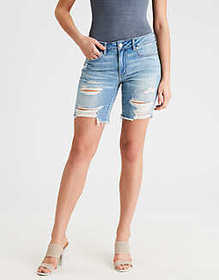 American Eagle AE Tomgirl Denim Bermuda Short