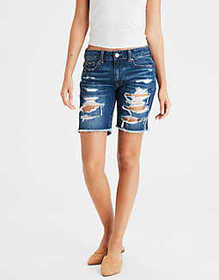 American Eagle Tomgirl Denim Bermuda Short