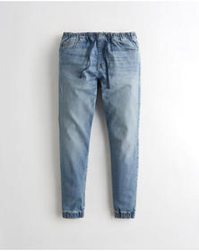 Hollister Advanced Stretch Denim Jogger Pants, MED