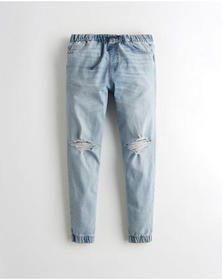 Hollister Advanced Stretch Skinny Denim Jogger Pan