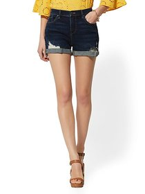 Destroyed 4 Inch Boyfriend Short - Blue Hustle - N
