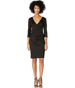 Nicole Miller Ponte Tidal Pleat Dress