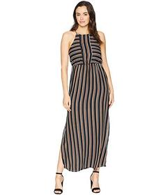 American Rose Florence Striped Maxi Dress