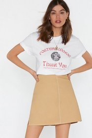 Nasty Gal Womens White So Fortunate Fortune Cookie