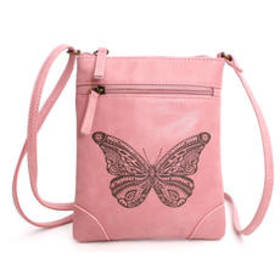Chateau Etched Butterfly Crossbody
