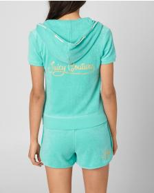 Juicy Couture JUICY ROPE MICROTERRY SHORT SLEEVE R