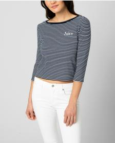 Juicy Couture SAILOR STRIPE BOAT NECK TOP