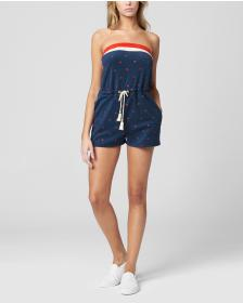 Juicy Couture ANCHOR EMBROIDERY MICROTERRY ROMPER